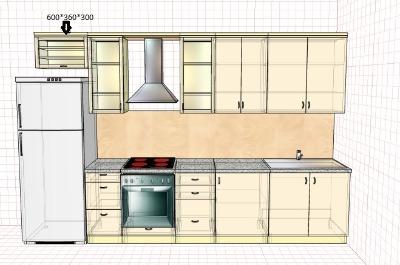 Кухня со шкафом на 360